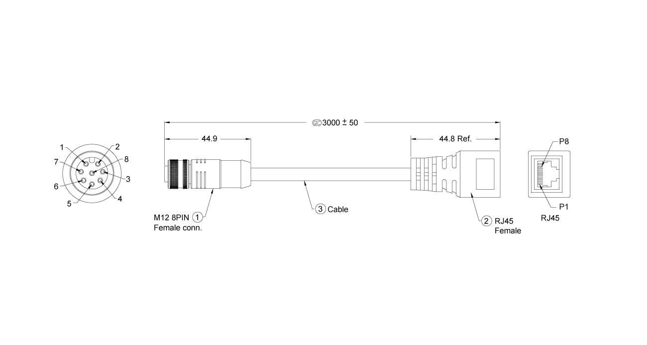 M12-LAN-300 Dimension