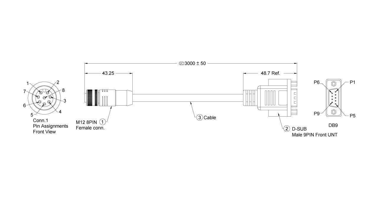 M12-SERIAL-300 Dimension