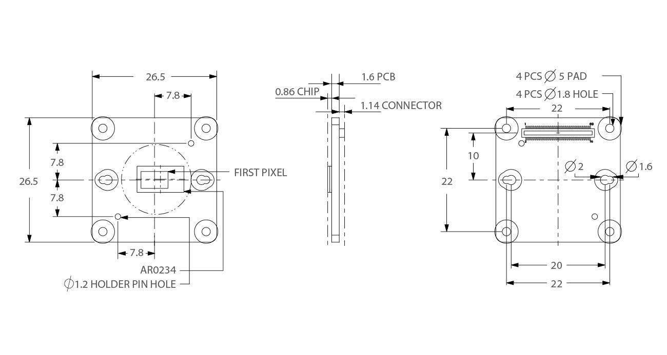 TEV-AR0234 Dimensions